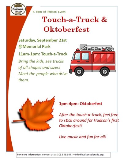 touch a truck and oktoberfest