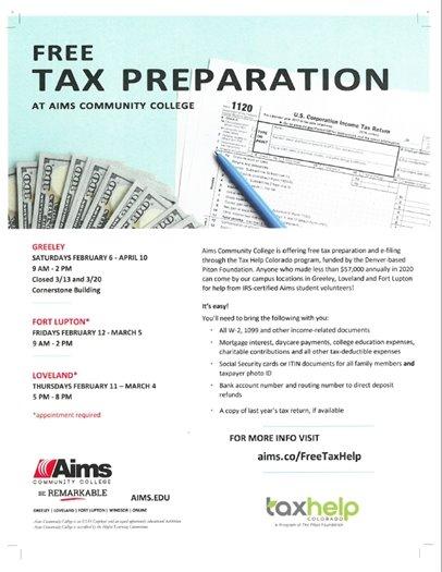 Tax prep flier