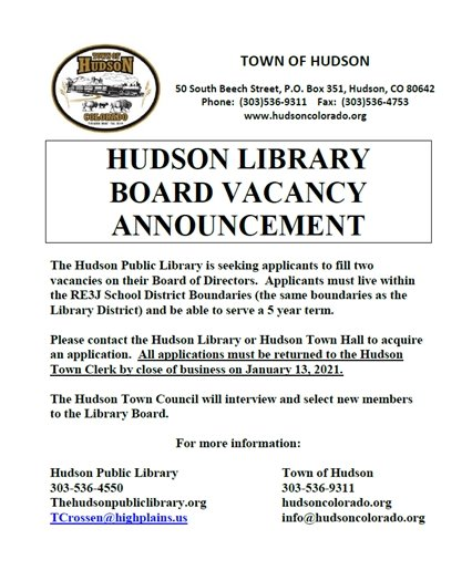 Library Board Opening Flyer