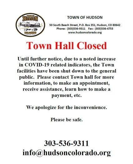 Town Hall Closure Notice