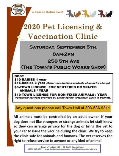 animal clinic flier