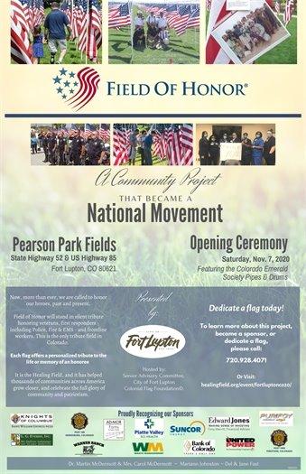 Field of Honor flyer