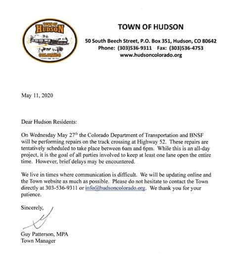 May 27th BNSF work letter