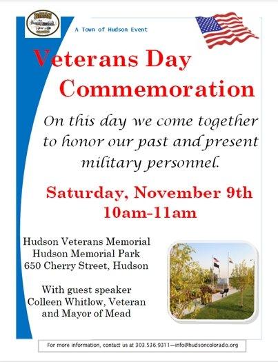 Veterens Day Commemoration