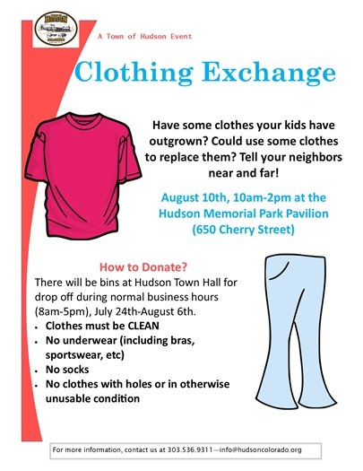 clothing exchange flier