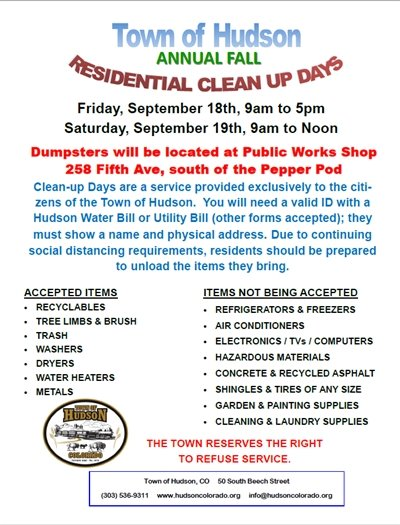 fall clean up flier