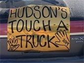 touch a truck sign