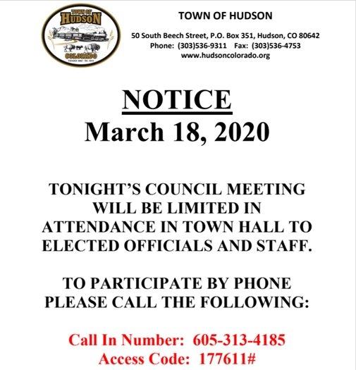 meeting notice info